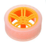 Оригинал 2шт 65 * 27мм Оранжевый + Прозрачный цвет Резиновые колеса для TT Мотор Arduino Smart Chassis Авто