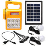 Оригинал Портативный Солнечная Панельный генератор Набор Солнечная Powered System Светодиодный для дома Кемпинг