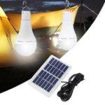 Оригинал Портативный 7W Солнечная Панель USB перезаряжаемая Кемпинг Light 20 COB LED Bulb Лампа для На открытом воздухе Emergency