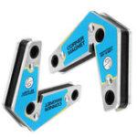 Оригинал 2шт Магнитные держатели для сварки Угловой держатель магнита Двойное использование 60/90 Степень Пайка Набор