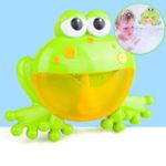 Оригинал БольшиелягушкиАвтоматическийBubbleMakerBlower Музыка Bubble Maker Детская ванна Игрушка Bubble Machine Ванна Мыло Машины Игрушки для детей
