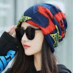 Оригинал Женская зимняя печать Полиэфирная шапочка Шапка Chemo Caps