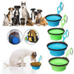 Оригинал Pet Silica Гель Чаша Собака кошка Складная Силиконовый Dow Bowl Candy Color На открытом воздухе Путешествия Портативный щенок Контейнер для пищевых про