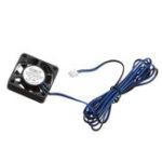 Оригинал TRONXY® DC 12V 0.12A Blue 4010 Бесколлекторный Охлаждающий вентилятор с кабелем 2M для части 3D-принтера