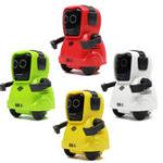 Оригинал COOBEE Pocket Smart RC Robot Recording Function Свободно колесо 360 ° Ротационная рука Robot Toy Gift