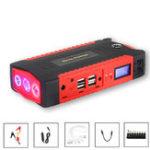 Оригинал 89800mAh Авто Jump Booster пускового устройства 4Usb аварийного зарядного устройства Bank Bank Батарея LED SOS
