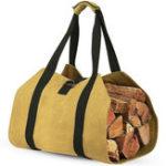 Оригинал Деревянный каркас для перевозки древесины Сумка Дрова для камина 16 унция Вощенное полотно