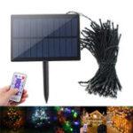 Оригинал Солнечная Powered Dimmable 17M 8 Режимы таймера 100 LED Fairy String Light Рождественский декор Дистанционное Управление