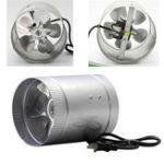 Оригинал 6Inch 37W 220W 60HZ 240CFM Вентилятор для вытяжного вентилятора с вытяжным вентилятором Гидропонный вентилятор с низким уровнем шума