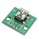 Оригинал 100шт USB для DIP Женский головной мини-5P патч для DIP 2.54 мм адаптерная плата