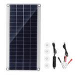 Оригинал 20W Портативная Солнечная Панель Набор DC USB Зарядка Двойной USB-порт присоски Кемпинг Путешествия