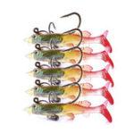 Оригинал ZANLURE5pcs/set6cm4g Soft Пластиковые воблеры Искусственный приманка Силиконовый Рыбалка Lure Sea Bass Carp