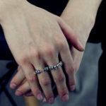 Оригинал 925 пробы стерлингов готика Череп скелет Стандарты палец кольцо