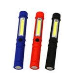 Оригинал COB LED Портативный мини-фонарь для работы с подсветкой Карманный фонарик AAA с хвостом Магнит