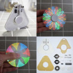 Оригинал 5шт Geekcreit® DIY Круглый треугольник LED POV Вращающийся ручник Spinner SMD Learning Набор
