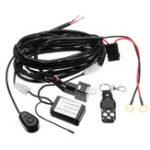 Оригинал 12V Электропроводка Набор с беспроводным передатчиком Дистанционное Управление для Светодиодный Бар ATV SUV 2Lead