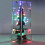 Оригинал Geekcreit® Собранная Рождественская елка Colorful LED Flash Модуль 3D LED Flash Свет MP3 Bluetooth APP R