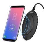 Оригинал TOPK 5W LED Lndicator Light Беспроводное зарядное устройство для зарядки iPhone X 8 Plus S8 Примечание 9 S9