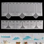 Оригинал 2PCSкружевнойCoffeeCafeWindowTier Curtains Кухня Столовая Home Decor Set
