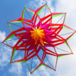 Оригинал 3D Rainbow Colorful Flower Kite Single Line На открытом воздухе Игрушка Flying For Kids Sport