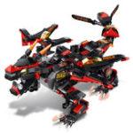 Оригинал MoFun Black Battle Дракон DIY 2.4G 4CH RC Robot Block Building Инфракрасный контроль Собранная игрушка для роботов