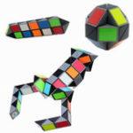 Оригинал 3D Colorful Волшебный Cube 72 Сегменты Скорость Twist Snake Волшебный Cube Головоломка Стикер Обучающие игрушки