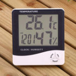 Оригинал Digital LCD Термометр Измерение влажности гигрометра Комнатная температура в помещении Часы