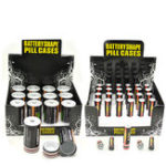 Оригинал БатареяформаdSecretStashSafeMoney Coins Pill Коробка Скрытый контейнер – идеальный выбор для наложения наличных денег Контейнер Коробка