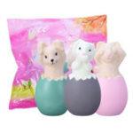Оригинал 13CM Squishy Rabbit Bunny Eggs With Fancy Сумка Рождественский подарок Squeeze Toy