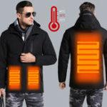 Оригинал Мужская женщина Электронный USB с подогревом Jacket Intelligent Heating с капюшоном Работа мотоцикл Лыжный верховой жилет