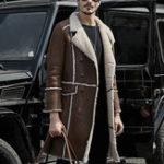Оригинал МужскаязимаТолстоескапюшономИскусственная кожа Shearling Coat