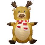 Оригинал 1.2M Рождественские надувные игрушки Elk Xmas Украшение На открытом воздухе Сад Lights Украшение игрушки