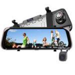 Оригинал F800 10 дюймов Sceen HD 1080P Потоковое зеркало заднего вида Авто Видеорегистратор