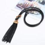 Оригинал Этнические Кулон Длинные ожерелья Tassel Double Кулонs Wax Веревка