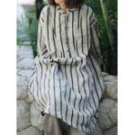 Оригинал Полоса Кнопки Опора стойки Рубашка Платье