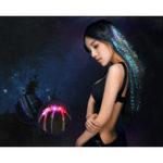 Оригинал Flash LED Волосы Braid 40CM Декоративная рождественская вечеринка Light-Up Optic Fiber Extension Barrette