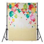 Оригинал 5x7FT Винил Colorful Воздушный шар Фоновая фотография Фон Студия Prop