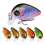Оригинал ZANLURE DW1115 10Pcs / Set 28.5mm 1.95G Minnow Hard Рыбалка Lure 3D Eyes # 14 Крюк Воблер Crank Bait