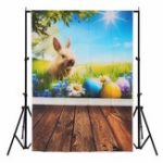 Оригинал 3x5FT Vinly Rabbit Flower Glass Весенняя фотография Фон Фон Студия Prop