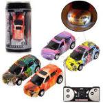 Оригинал 1PC Mini Coke Rc Авто W / Светодиодный Радио Control Micro Racing Toy Случайный цвет
