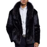 Оригинал Мужская зима Толстое теплое кожаное пальто из меха из меха