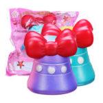 Оригинал Bow-Knot Bell Squishy 12CM Jumbo Slow Rising Soft Коллекция подарков для подарков с упаковкой