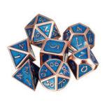 Оригинал 7Pcs полиэдральные кубики антикварные металлические многоразовые кости набор ролевых игр Gadget Dice