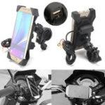 Оригинал BIKIGHT3.5-6inUSB-зарядноеустройстводлявелосипедов Мобильный телефон для крепления мобильного телефона для iPhone X, XS, XR, iPhone 7 / Plus, Sa