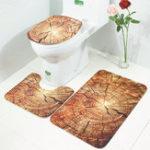 Оригинал HonanaBX3шт.CreativeWood Шаблон Non Slip Carpet Ванная комната Коврик для ванной Туалетная крышка для туалета