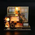 Оригинал DIY Handcraft LED Деревянная кукольная миниатюрная мебель Набор Toy Doll House Gift