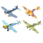 Оригинал 4D Metal Plane Model Aircraft Assemble Flying Diecast Модель 18 * 22CM Обучающая коллекция Игрушка