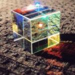 Оригинал 20 мм / 23 мм / 25 мм Оптическое стекло Crystal Combiner Prism X Cube RGB Дисперсионный разделитель C Подарок Коробка