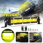 Оригинал 7 дюймов 18W LED Рабочий свет Бар Пятно-вождение Лампа Желтый DC 12V для внедорожников ATV Лодка 4WD Off Road