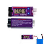 Оригинал VM006 1-6S DC 3.0-27.0V LiPo Батарея Точная 1 мВ Батарея Измеритель напряжения LCD Жидкий кристалл Дисплей Сигнализация